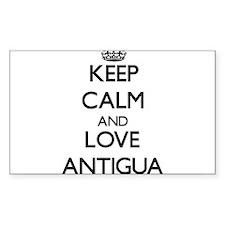 Keep Calm and Love Antigua Decal