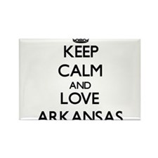 Keep Calm and Love Arkansas Magnets