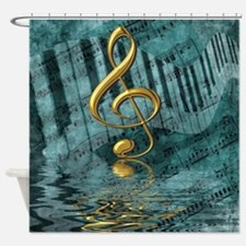 Treble Clef Composition Shower Curtain