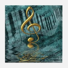 Treble Clef Composition Tile Coaster