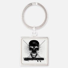 Silence is Consent Square Keychain