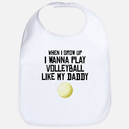 Volleyball Like My Daddy Bib