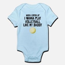 Volleyball Like My Daddy Body Suit