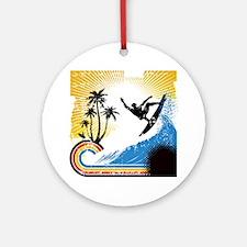 VINTAGE SURFIN Ornament (Round)