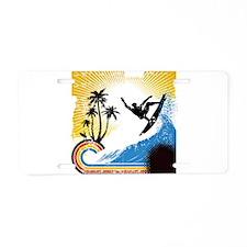 VINTAGE SURFIN Aluminum License Plate