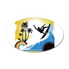 VINTAGE SURFIN Wall Decal