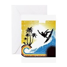 VINTAGE SURFIN Greeting Cards