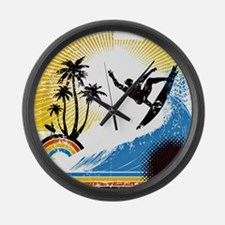 VINTAGE SURFIN Large Wall Clock