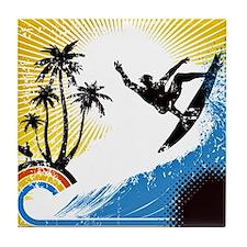VINTAGE SURFIN Tile Coaster
