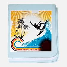 VINTAGE SURFIN baby blanket