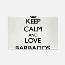 Keep Calm and Love Barbados Magnets