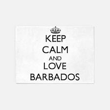 Keep Calm and Love Barbados 5'x7'Area Rug