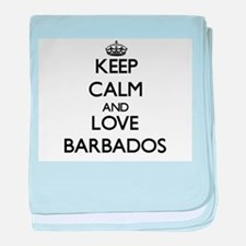 Keep Calm and Love Barbados baby blanket