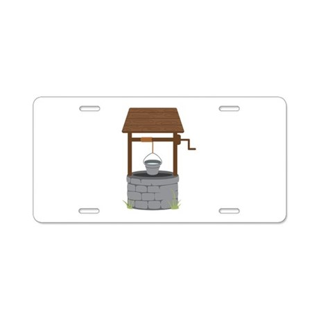 Water Well Aluminum License Plate