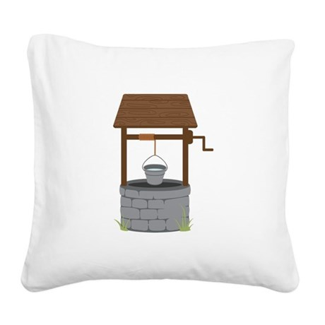 Water Well Square Canvas Pillow