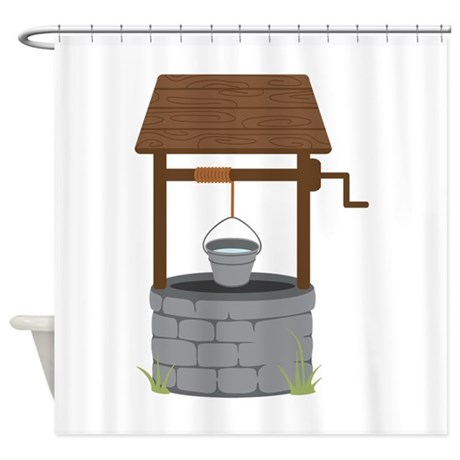 Water Well Shower Curtain