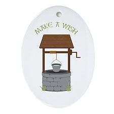 MAKE A WISH Ornament (Oval)