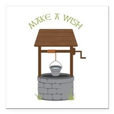 "MAKE A WISH Square Car Magnet 3"" x 3"""