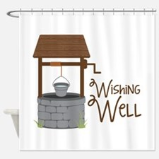 Wishing Well Shower Curtain