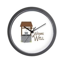 Wishing Well Wall Clock