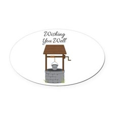 Wishing you Well Oval Car Magnet