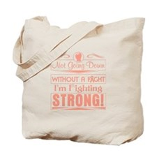 Uterine Cancer Fighting Strong Tote Bag