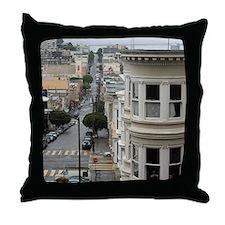 wet san francisco streets Throw Pillow