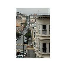 wet san francisco streets Rectangle Magnet