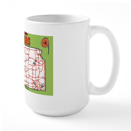 Kansas Greetings Large Mug