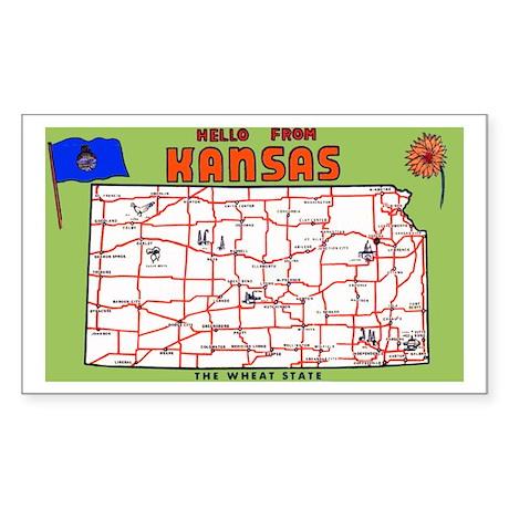 Kansas Greetings Rectangle Sticker