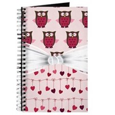 Pink Whimsical Owls Journal