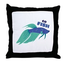 Go Fish Throw Pillow