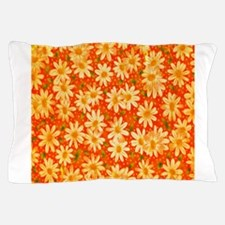 Orange Daisies Pillow Case