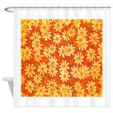 Orange Daisies Shower Curtain