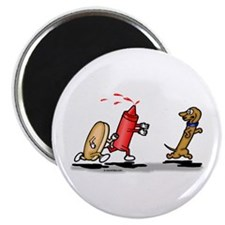 Run Wiener Dog Magnet