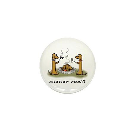 Wiener Roast Wiener Dog Mini Button