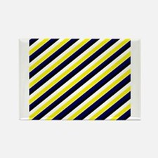 Team Colors 1...Navy , yellow Rectangle Magnet