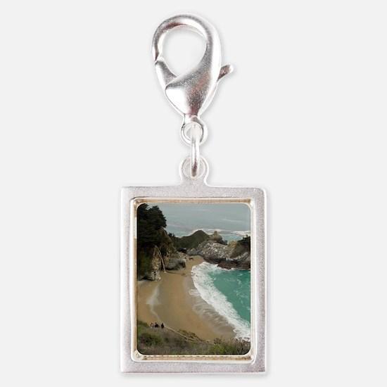 McWay Falls big Sur Silver Portrait Charm