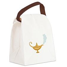Genie Lamp Bottle Canvas Lunch Bag