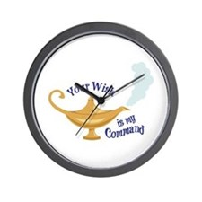 Your wish is my command Wall Clock