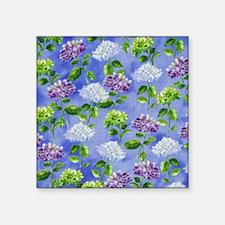 Hydrangeas Floral Blue Sticker