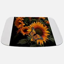 Sunflower Radiance Monarch Butterfly Bathmat