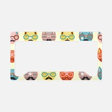 Hipster Cats License Plate Holder