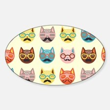 Hipster Cats Decal