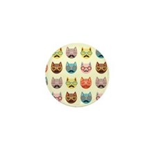 Hipster Cats Mini Button (100 pack)