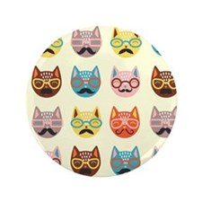 "Hipster Cats 3.5"" Button"