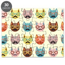 Hipster Cats Puzzle