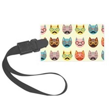 Hipster Cats Luggage Tag