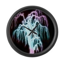 awesome fractal tree Large Wall Clock