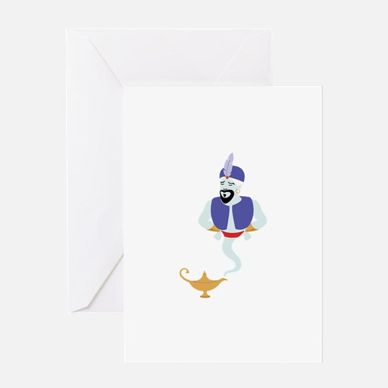 Genie Lamp Bottle Greeting Cards